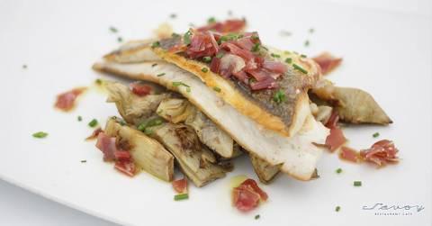 91661-peix-carxofes.jpg - Savoy Girona | Cafè - Restaurant